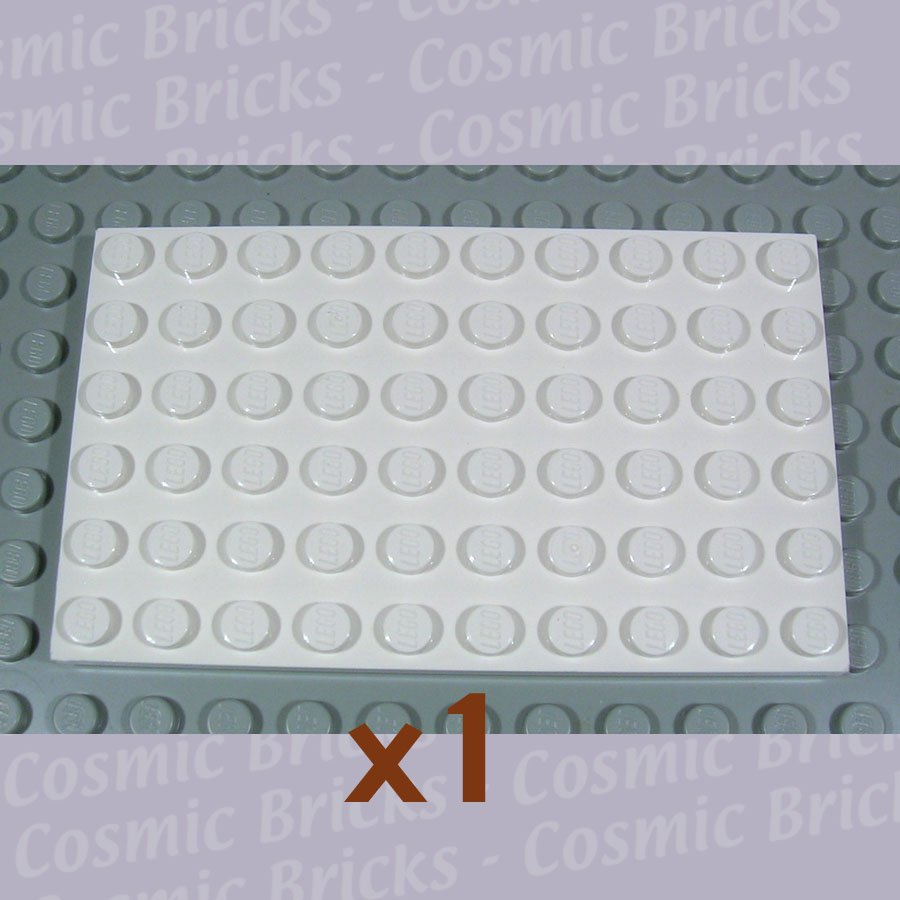 LEGO White Plate 6x10 303301 3033 (single,N)