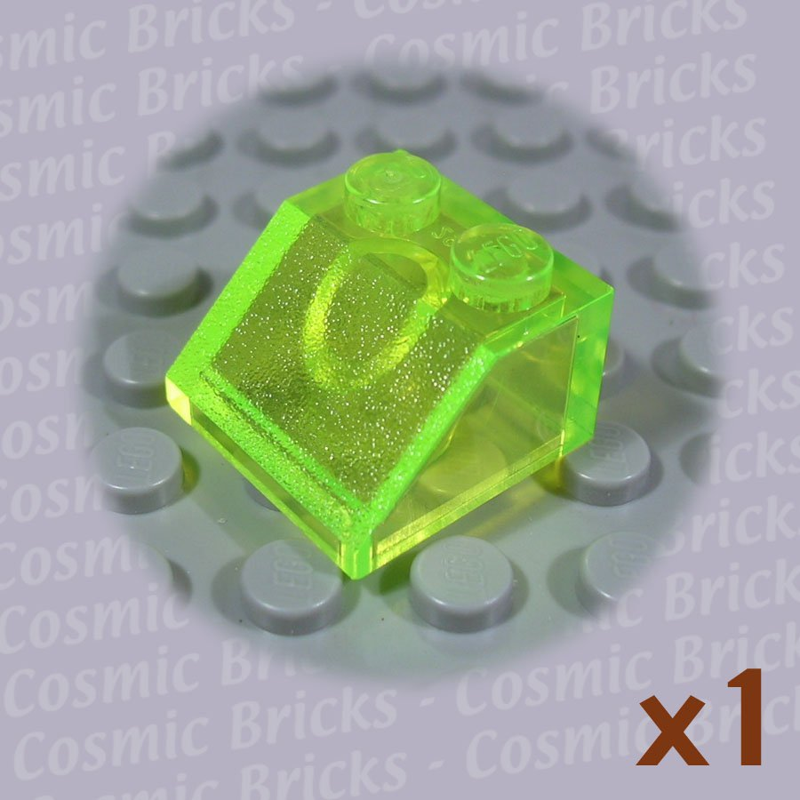 LEGO Trans-Fluorescent Green Slope 45 2x2 4140789 3039 (single,N)