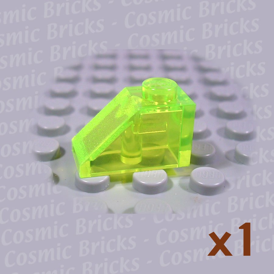 LEGO Trans-Fluorescent Green Slope 45 2x1 4544094 3040 (single,N)