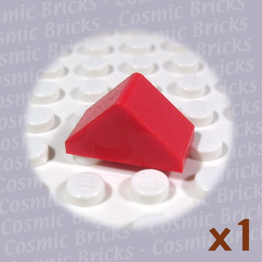LEGO Red Slope 45 2x1 Double 4157124 3044 (single,N)