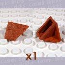 LEGO Dark Orange Slope 45 2x1 Double Inverted 3049 (single,N)