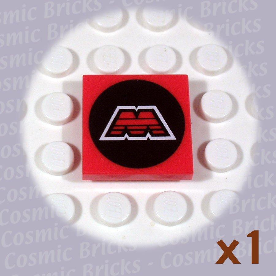 LEGO Red Tile 2x2 MTRON pattern 3068 (single,U)