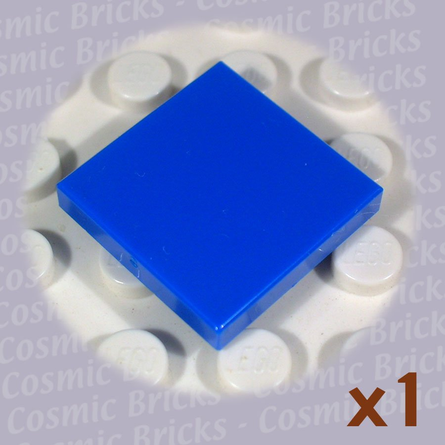 Lego bright blue tile 2x2 306823 3068 single n Bright blue tile