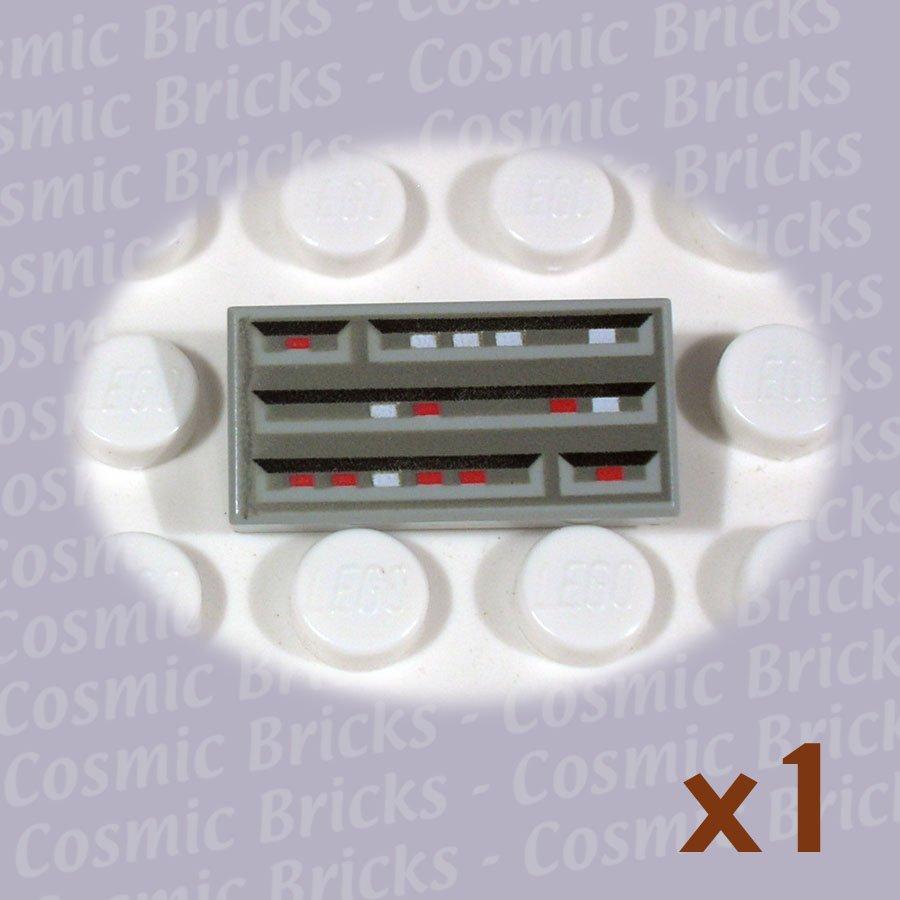 LEGO Light Gray Tile 1x2 SW Computer 3069 (single,N)