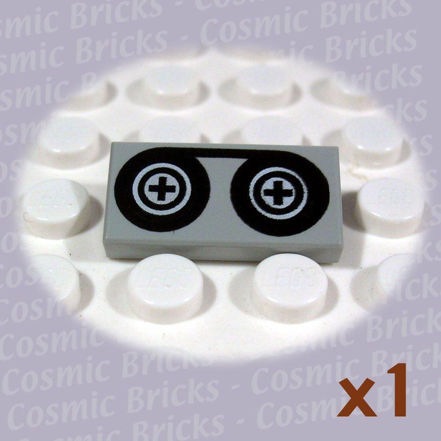 LEGO Light Gray Tile 1x2 Tape Reels 3069 (single,N)
