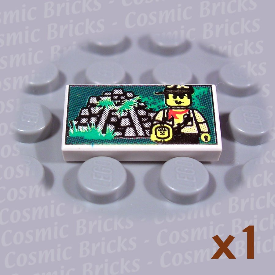 LEGO White Tile 1x2 Explorer Jungle Ruins 3069 (single,N)