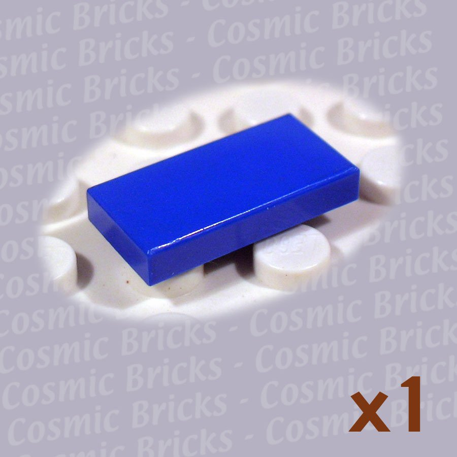 Lego bright blue tile 1x2 306923 3069 single n Bright blue tile