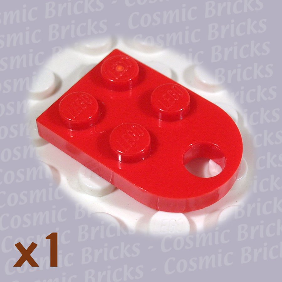 LEGO Red Plate Modified 3x2 with Hole 4188189 3176 (single,N)