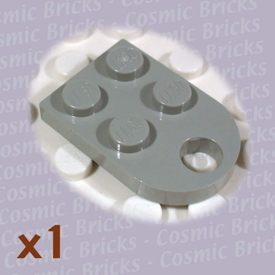 LEGO Light Gray Plate Modified 3x2 with Hole 317602 3176 (single,N)