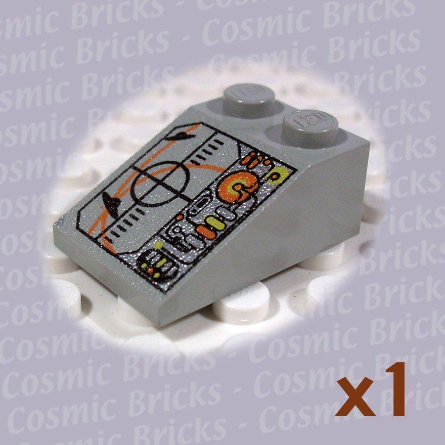 LEGO Light Gray Slope 33 3x2 Crosshairs UFO Circuitry 3298 (single,U)