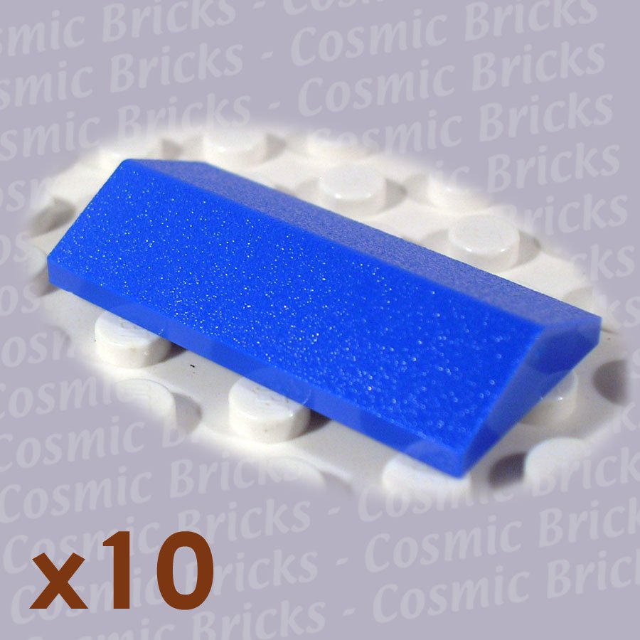 Lego bright blue ridged tile 2x4 25 329923 3299 10 pack n Bright blue tile