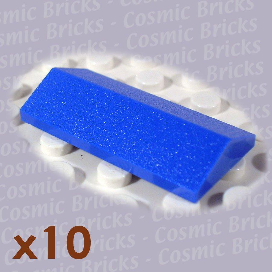 Lego Bright Blue Ridged Tile 2x4 25 329923 3299 10 Pack N: bright blue tile