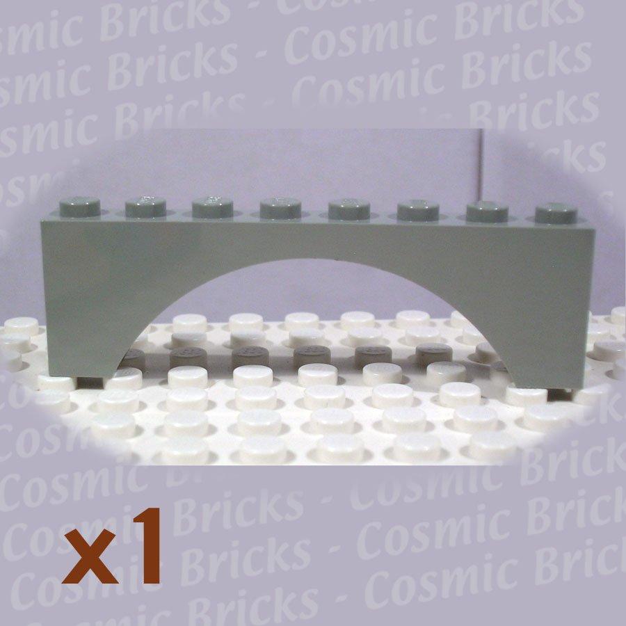 LEGO Light Gray Brick Arch 1x8x2 330802 3308 (single,N)