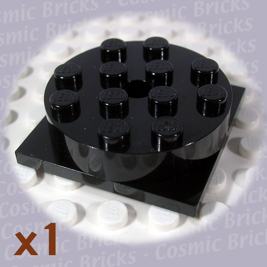 LEGO Black Turntable 4x4 Square Base Top Complete Assembly 4221663 3403 (single,N)