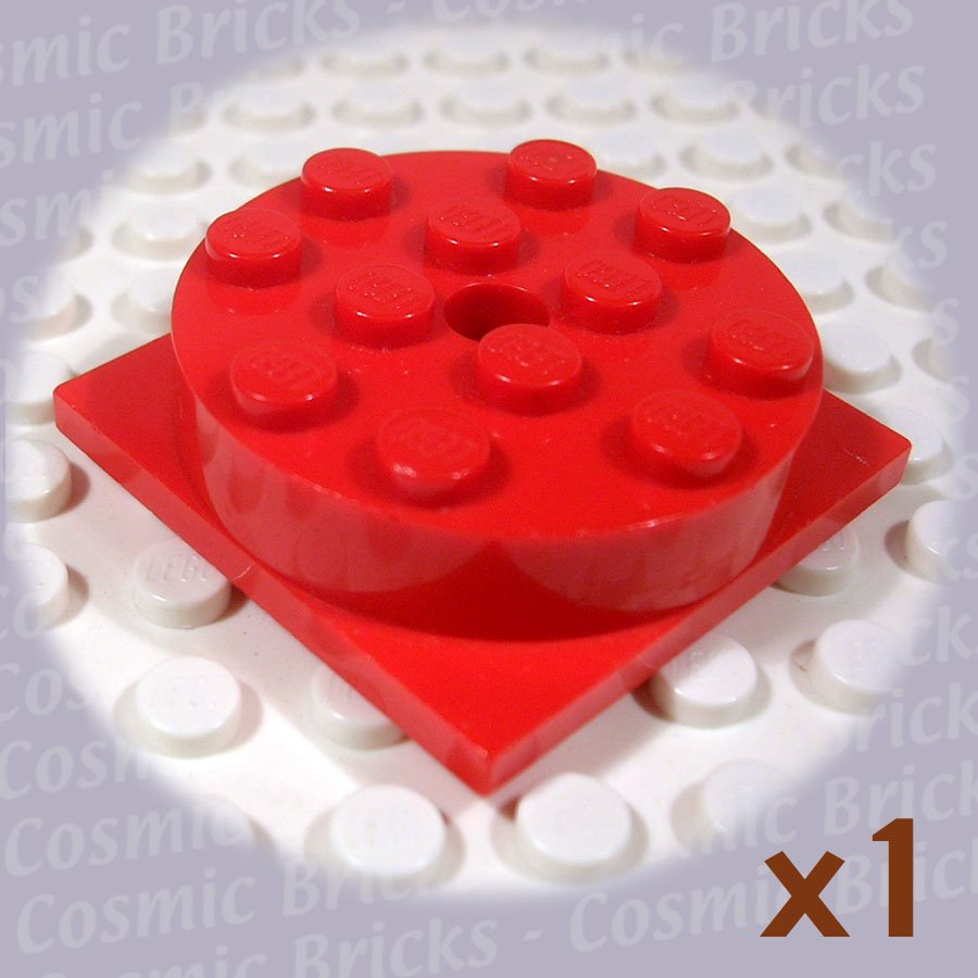 LEGO Red Turntable 4x4 Square Base with Top Complete 3403 (single,U)
