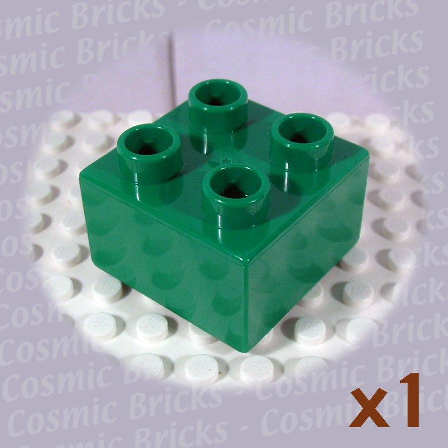 LEGO Dark Green Duplo Brick 2x2 343728 3437 (single,N)