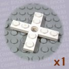 LEGO White Propeller 4 Blade 5 D Hole Rotor Holder 346101 3461 (single,U)