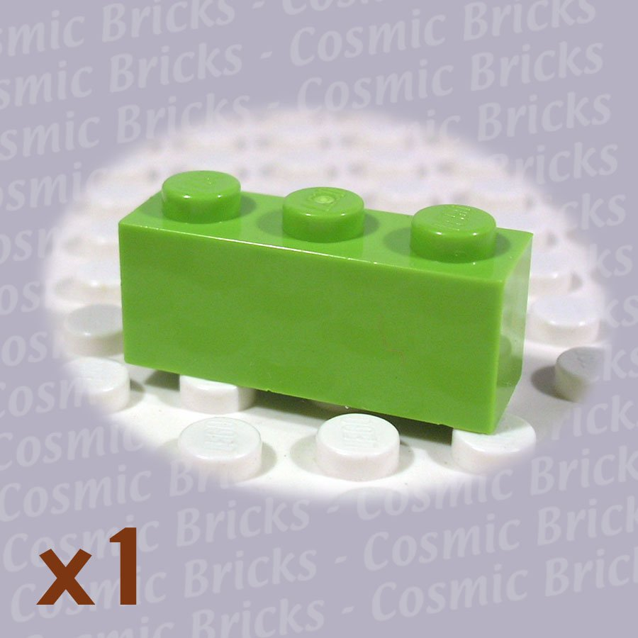 LEGO Lime Brick 1x3 4166093 3622 (single,N)