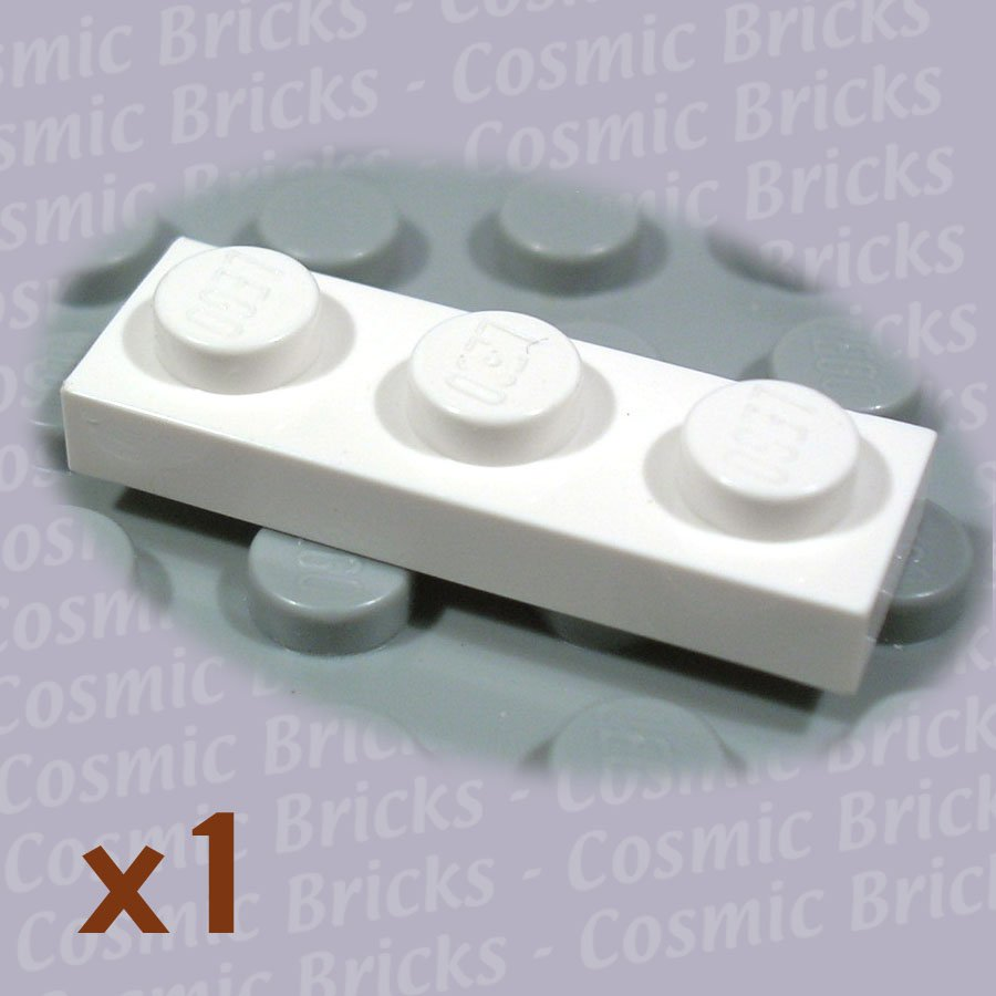 LEGO White Plate 1x3 3623 362301 3623 (single,N)