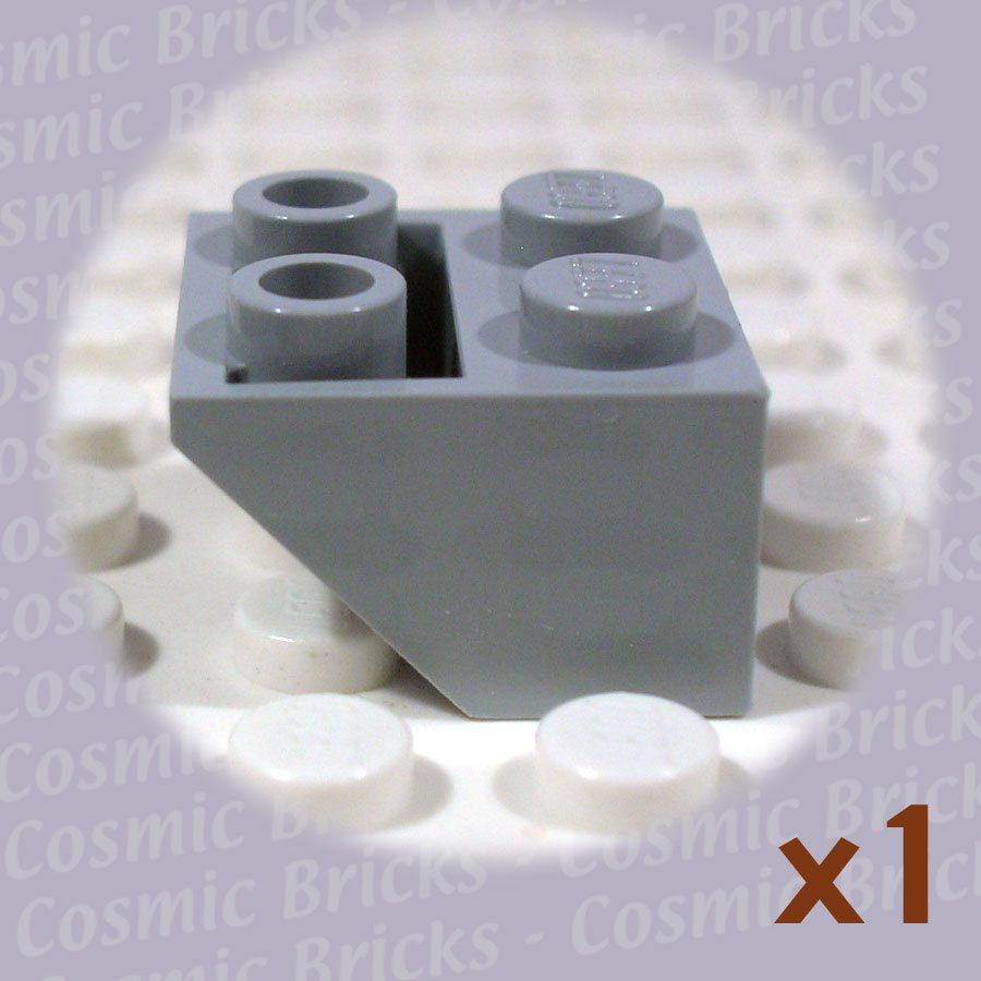 LEGO Medium Stone Grey Slope Inverted 45 2x2 4211436 3660 (single,N)