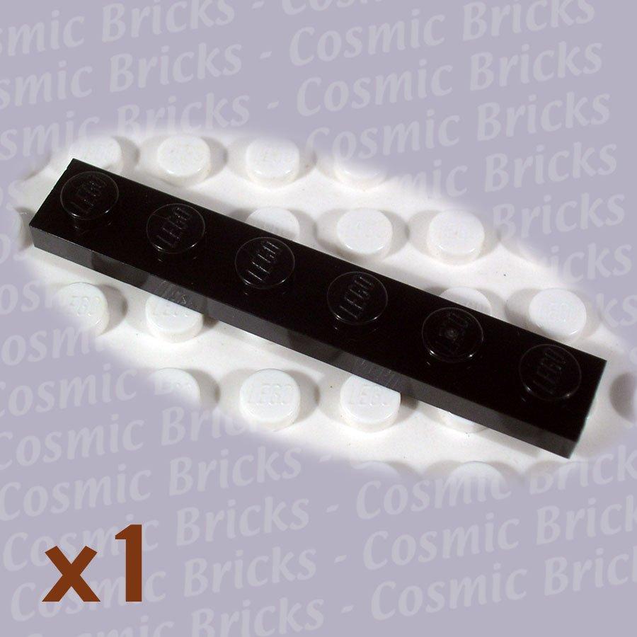 LEGO Black Plate 1x6 366626 3666 (single,N)