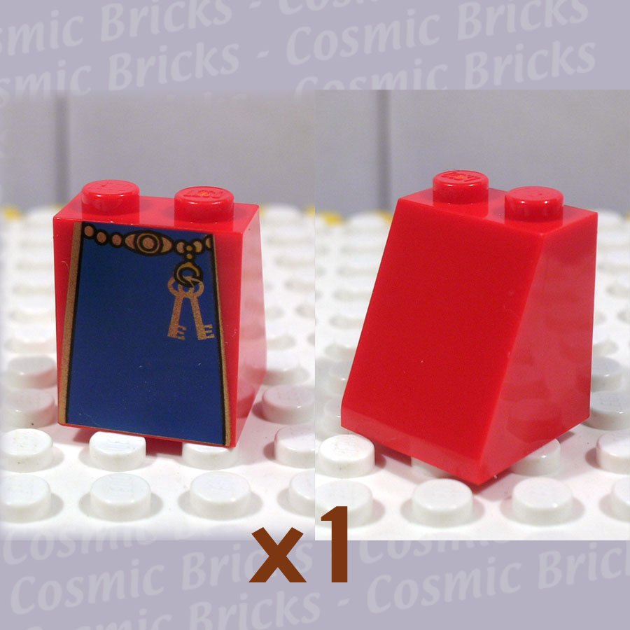 LEGO Bright Red Slope 65 2x2x2 Smooth without Bottom Tube Blue Skirt Keys 3678 (single,N)