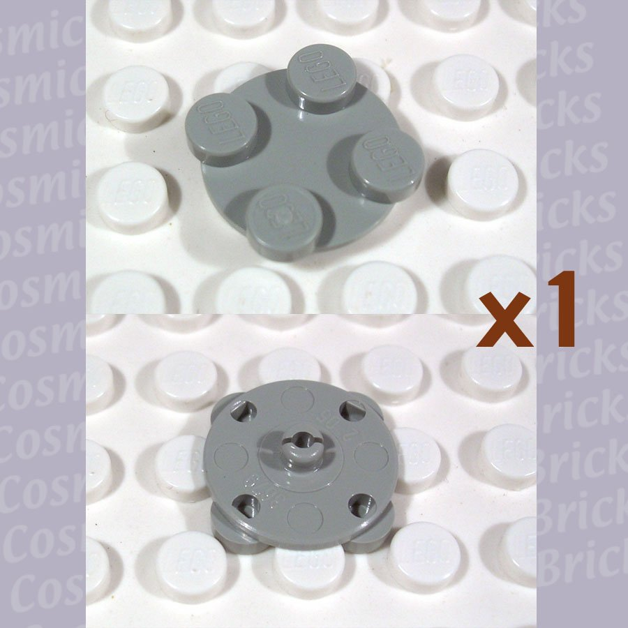 LEGO Light Gray Turntable 2x2 Plate Top 3679 (single,U)