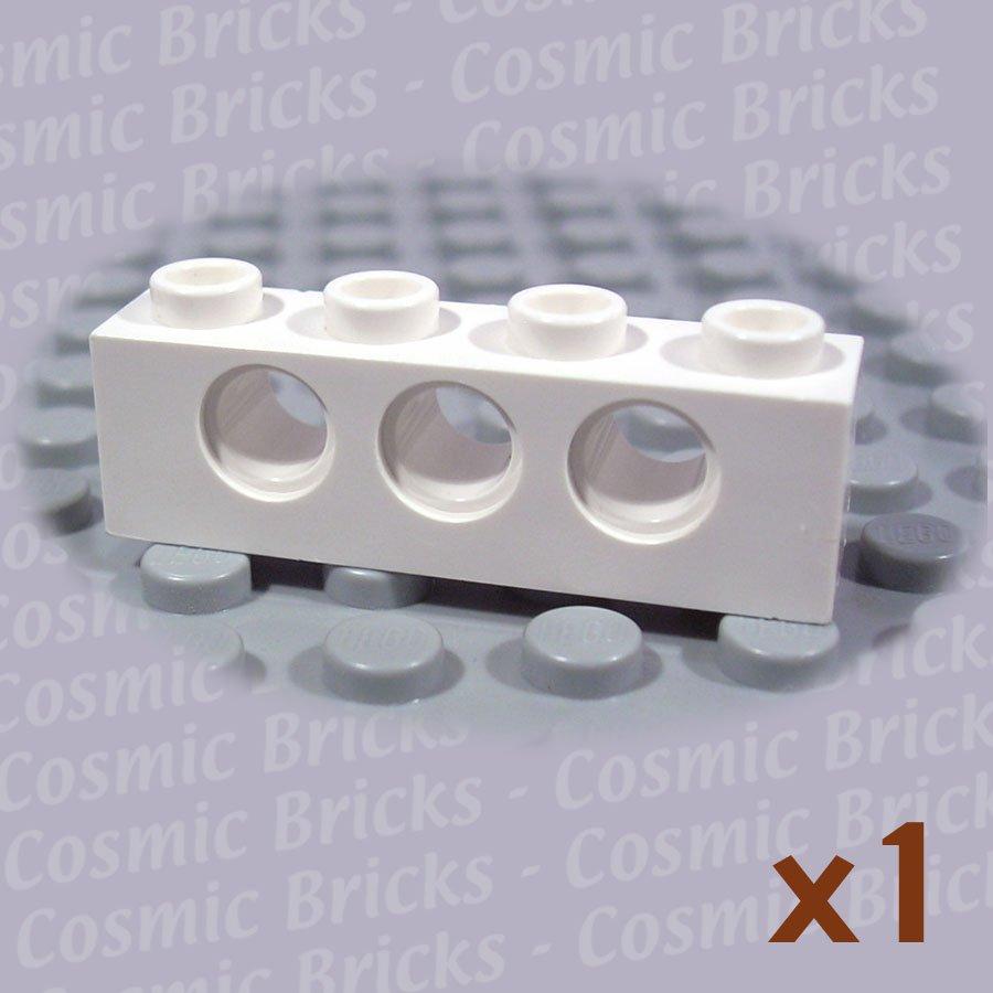 LEGO White Technic Brick 1x4 with Holes 370101 3701 (single,N)