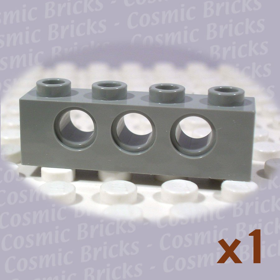 LEGO Light Gray Technic Brick 1x4 with Holes 370102 3701 (single,N)