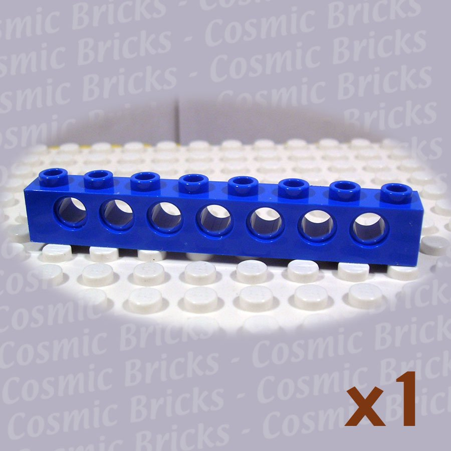 LEGO Blue Technic Brick 1x8 Holes 370223 3702 (single,N)
