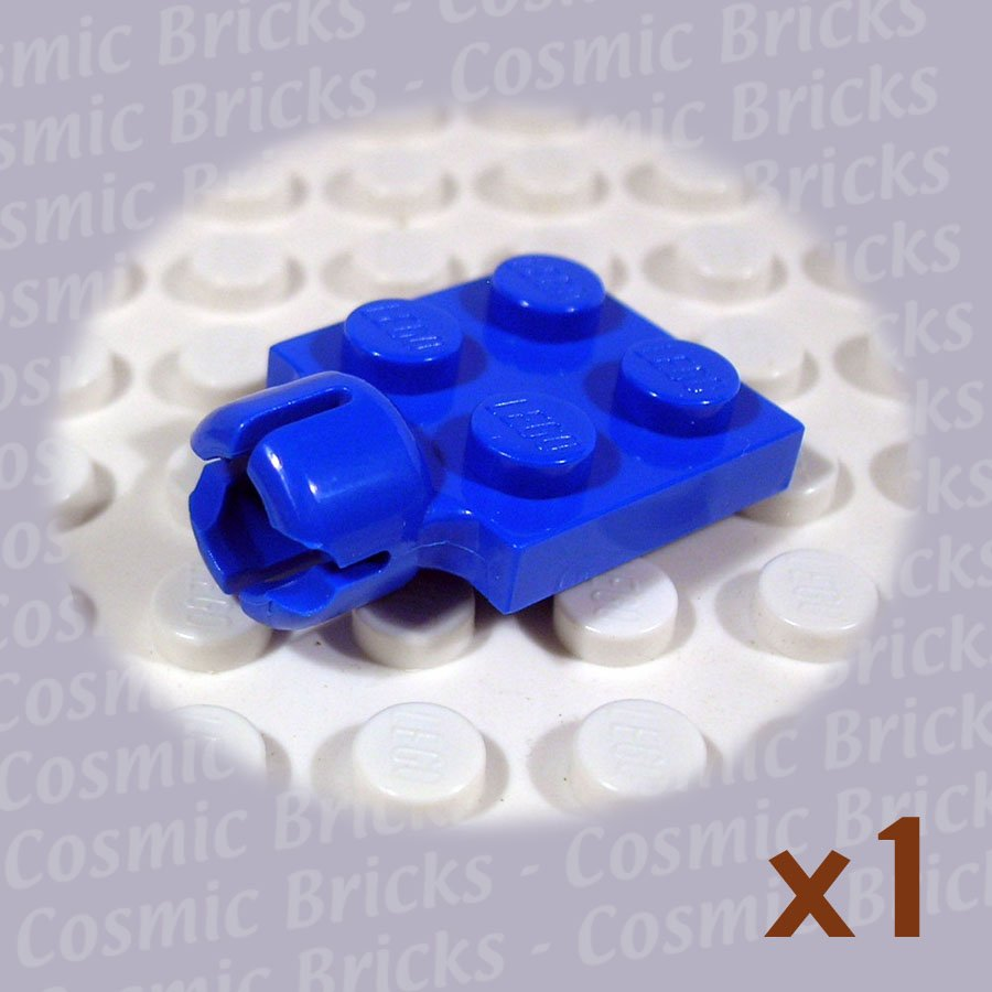 LEGO Blue Plate Modified 2x2 Towball Socket Short 4200503 3730 (single,N)