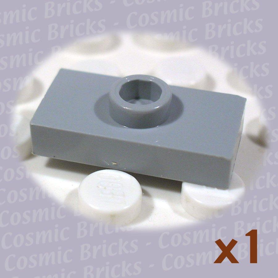 LEGO Light Bluish Gray Plate Modified 1x2 1 Stud 4211451 3794 (single,U)