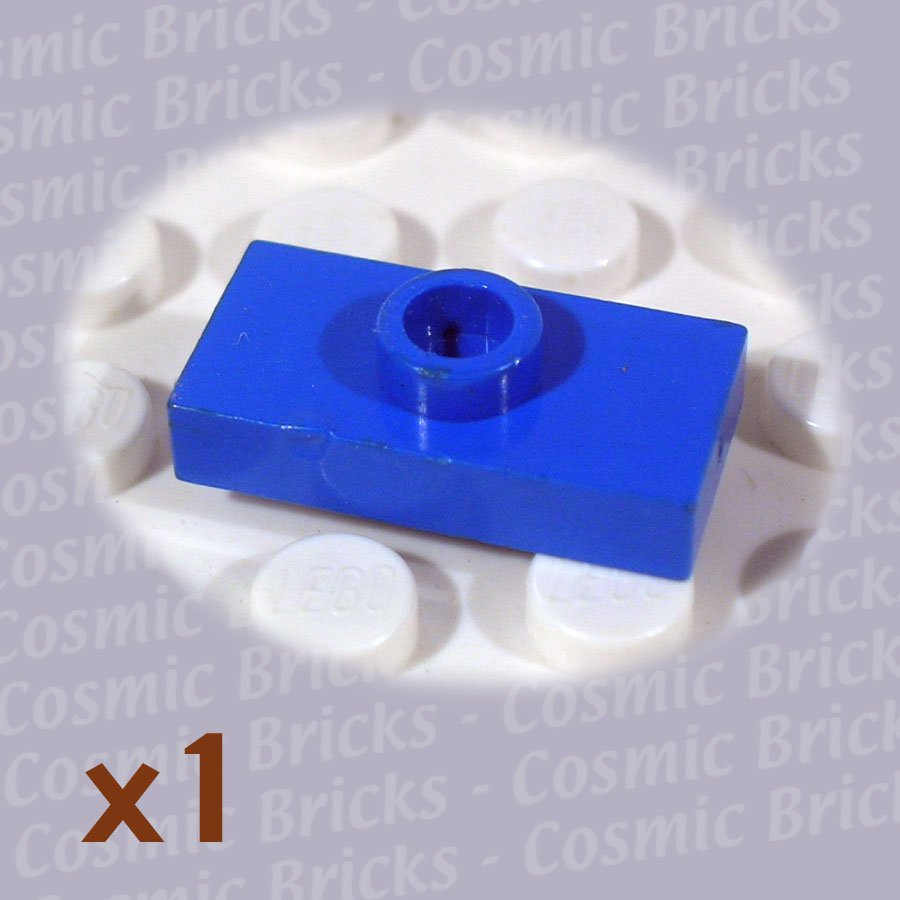 LEGO Blue Plate Modified 1x2 1 Stud 379423 3794 (single,U)