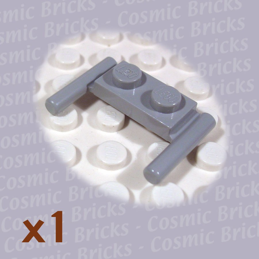 LEGO Light Bluish Gray Plate Modified 1x2 Handles 383926 3839 (single,N)