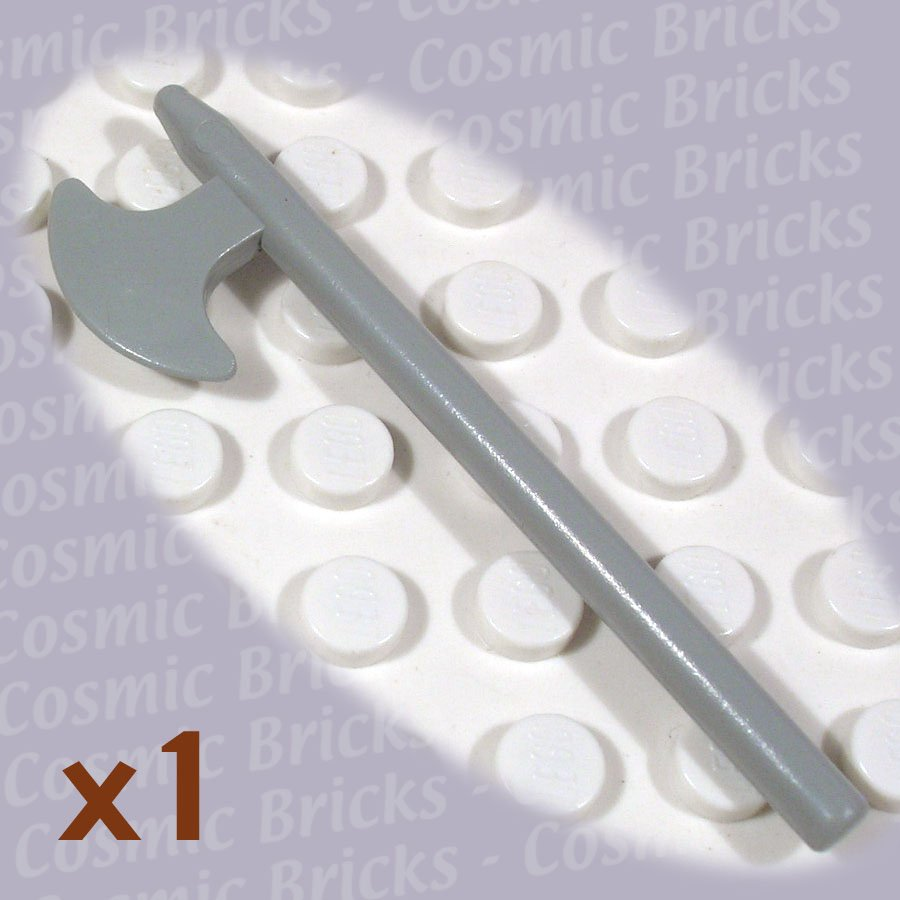 LEGO Light Gray Minifig Weapon Halberd 384802 3848 (single,N)