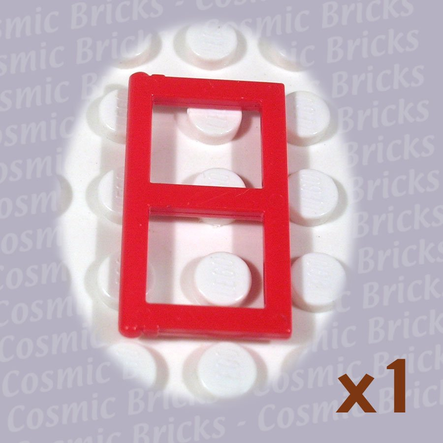 LEGO Red Window 1x2x3 Pane 385421 3854 (single,U)
