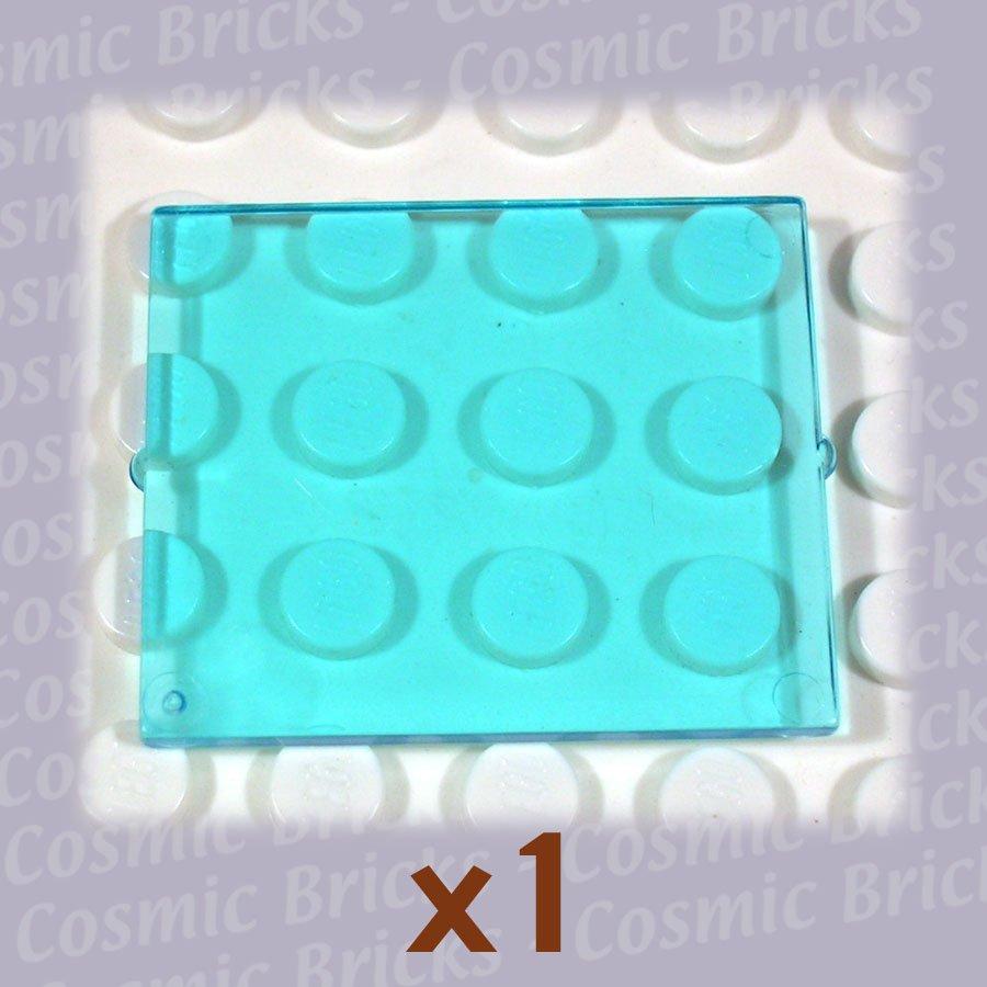 LEGO Trans-Light Blue Glass for Window 1x4x3 3855 (single,N)