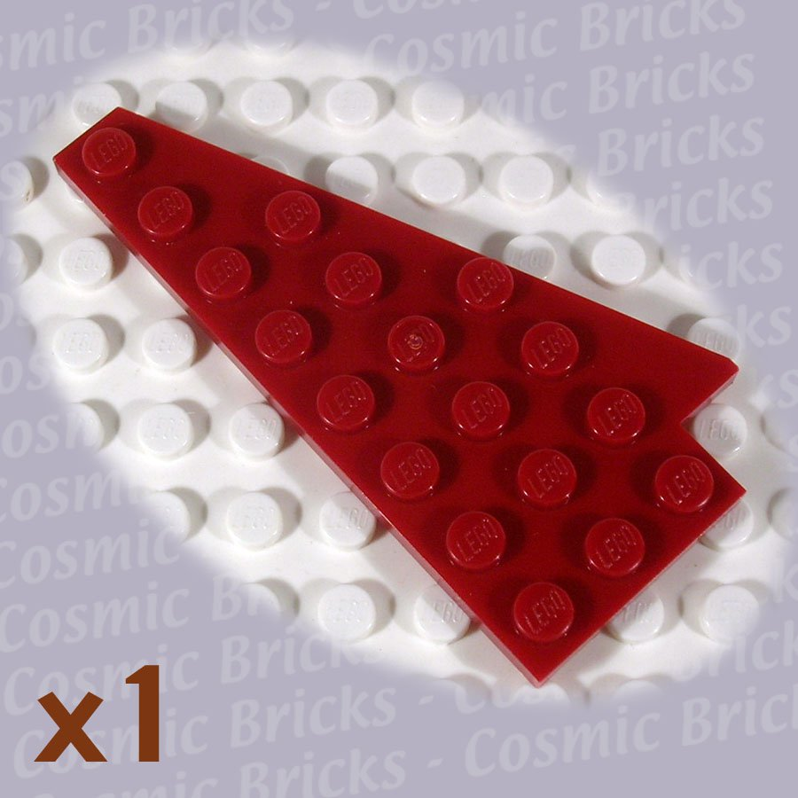 LEGO Dark Red Wedge Plate 8x4 Wing Right 3934 (single,N)