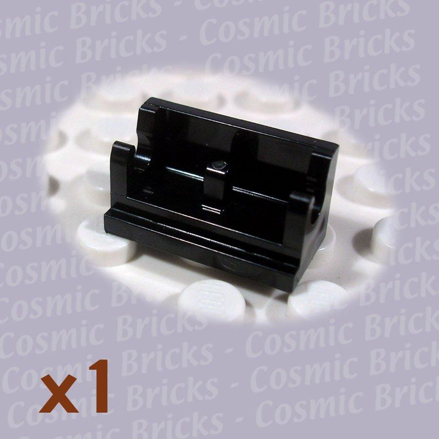 LEGO Black Hinge Brick 1x2 Base 3937 393726 (single,N)