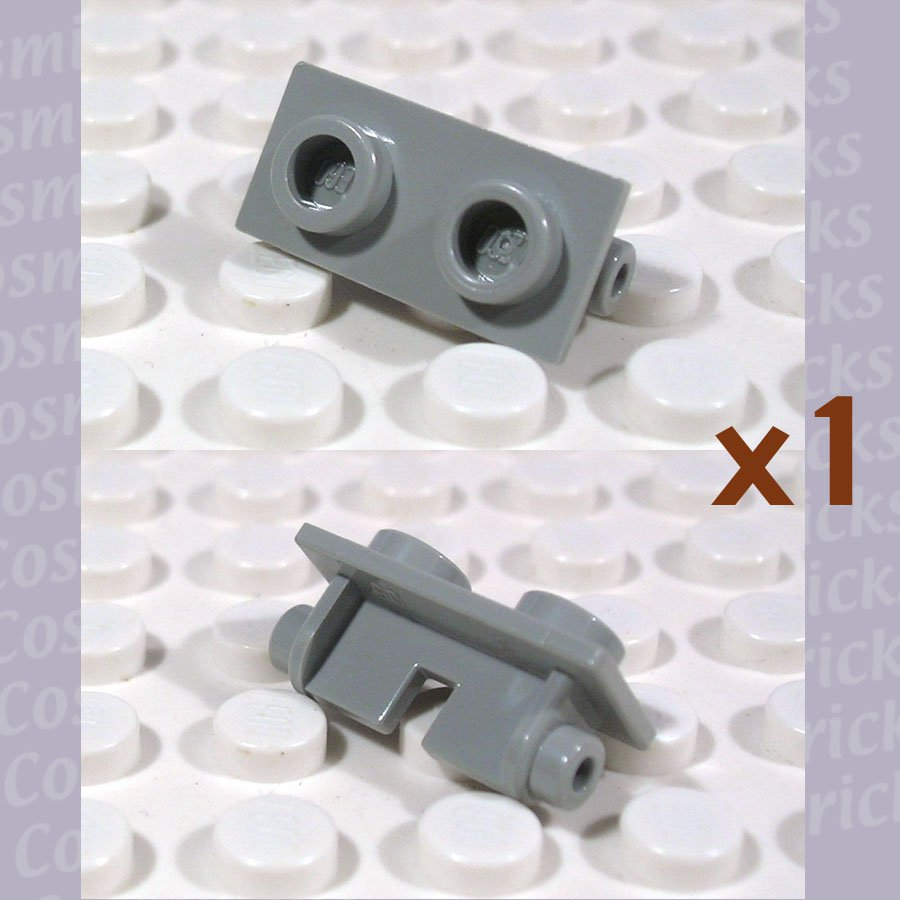 LEGO Light Gray Hinge Brick 1x2 Top Plate Thin 393802 3938 (single,N)