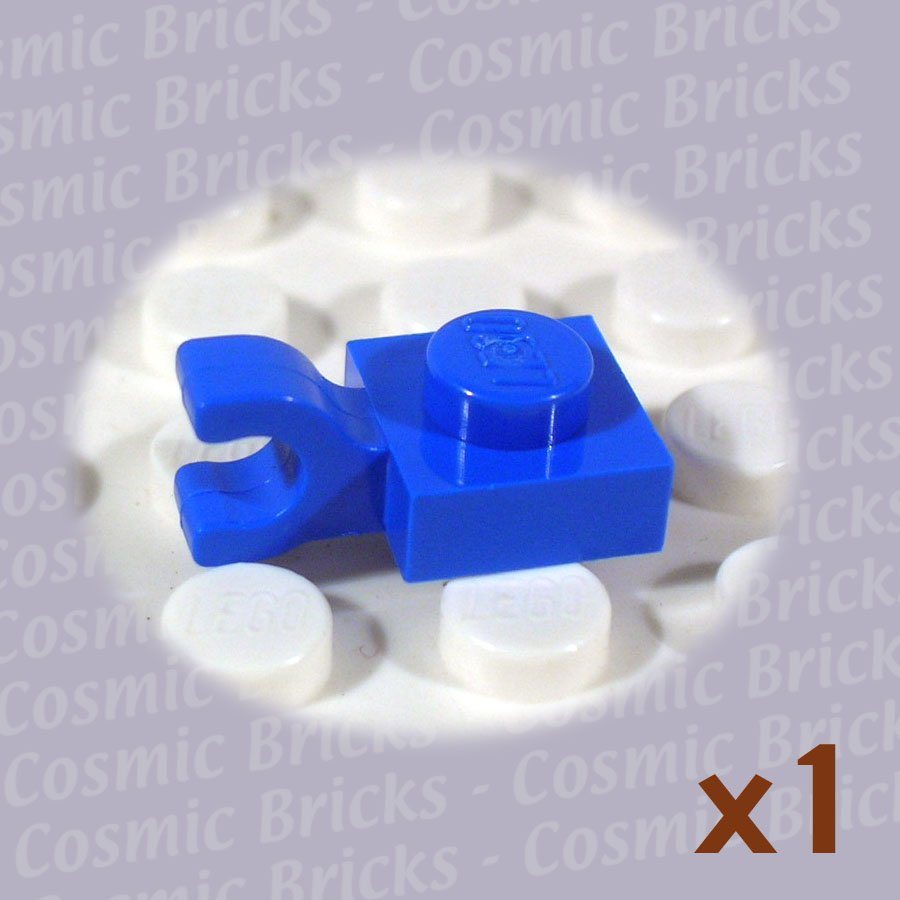 LEGO Blue Plate Modified 1x1 Clip Horizontal 601923 6019 (single,U)