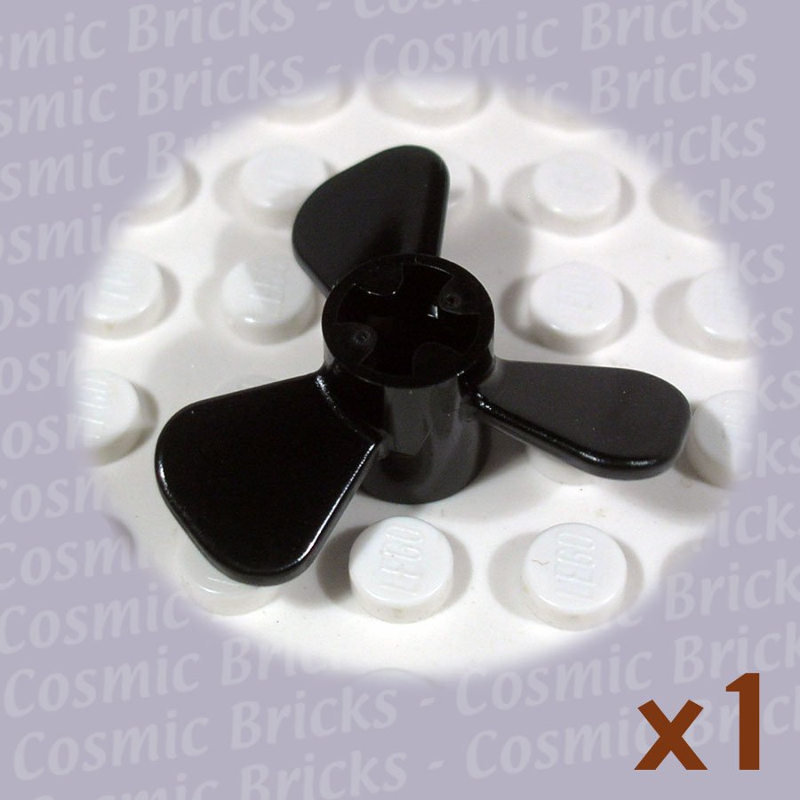 LEGO Black Propeller 3 Blade 3 D 604126 6041 (single,N)