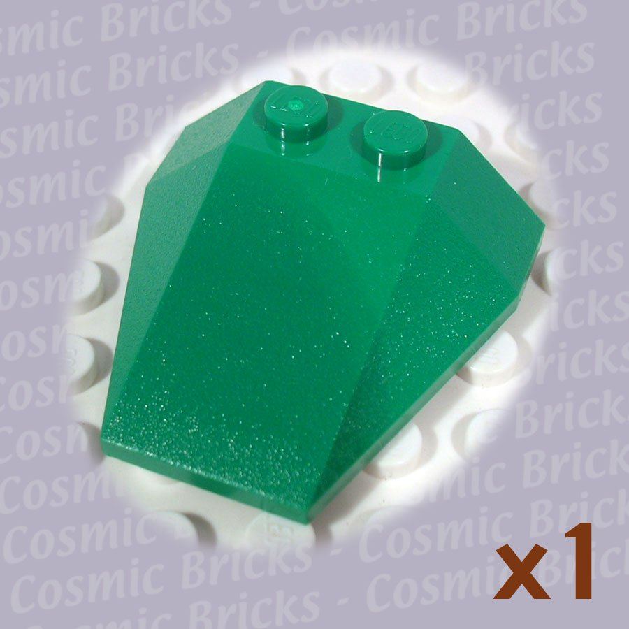 LEGO Dark Green Wedge 4x4 6069 (single,N)