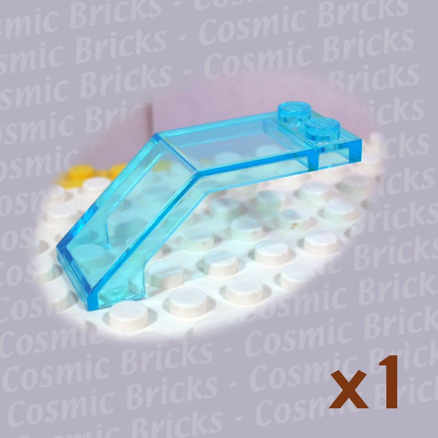 LEGO Trans Light Blue Windscreen 5x2x1.6 607042 6070 (single,U)