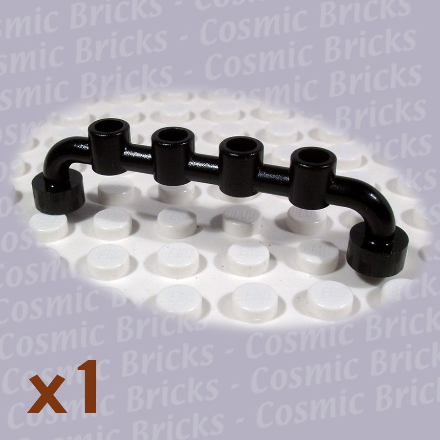 LEGO Black Bar 1x6 Studs Open 614026 6140 (single,N)