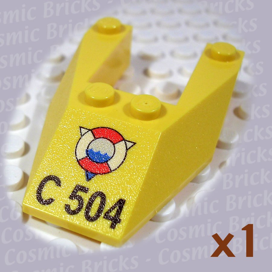 LEGO Yellow Wedge 6x4 Cutout no Stud Notches 'C 504' image 6153 (single,N)