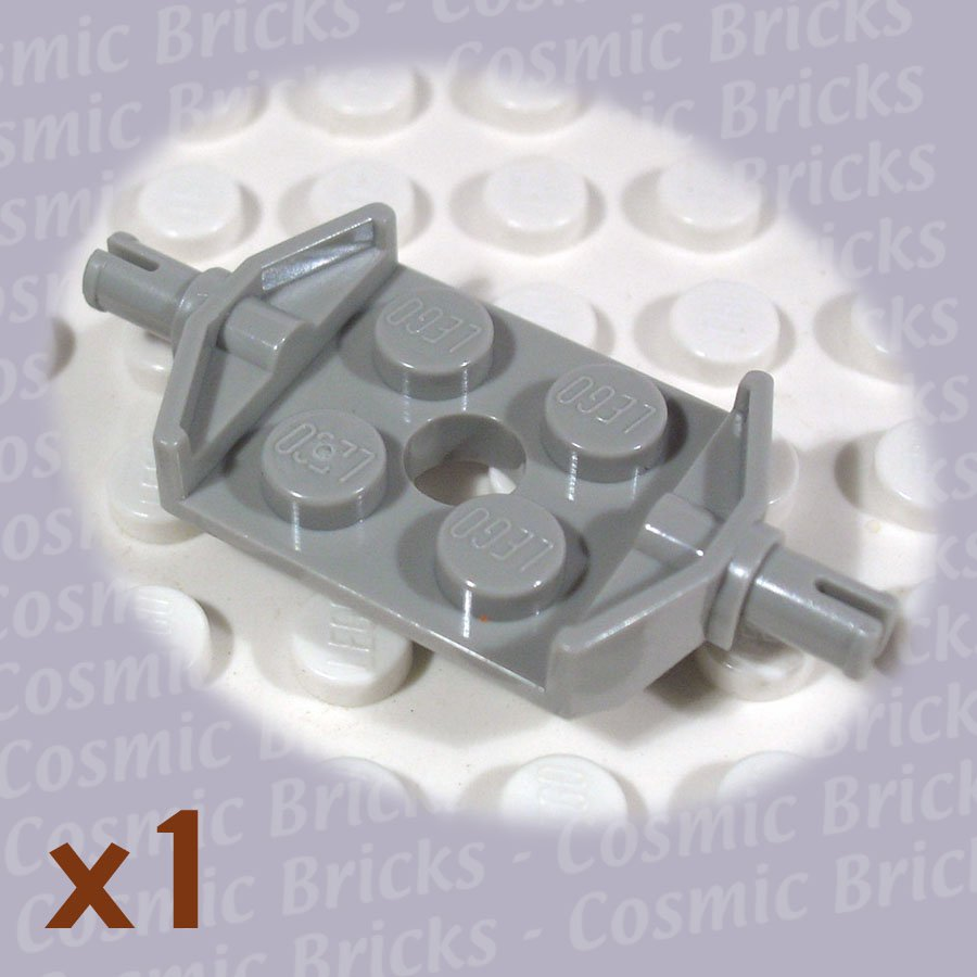 LEGO Light Gray Plate Modified 2x2 Wheels Holder Wide 615702 6157 (single,N)