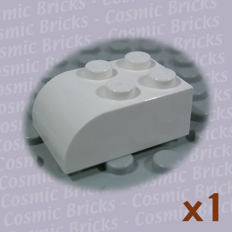 LEGO White Brick Modified 2x3 Curved Top 621501 6215 (single,N)