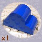 LEGO Blue Brick Modified 2x4x2 Triple Curved Top 621623 6216 (single,N)