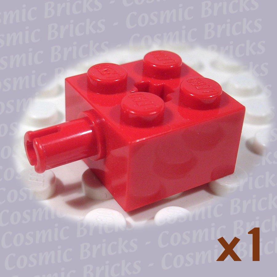 LEGO Red Brick Modified 2x2 Pin Axle Hole 623221 6232 (single,U)